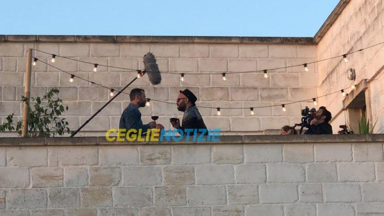 Fabio Volo e Giuliano Sangiorgi sul set di Untraditional
