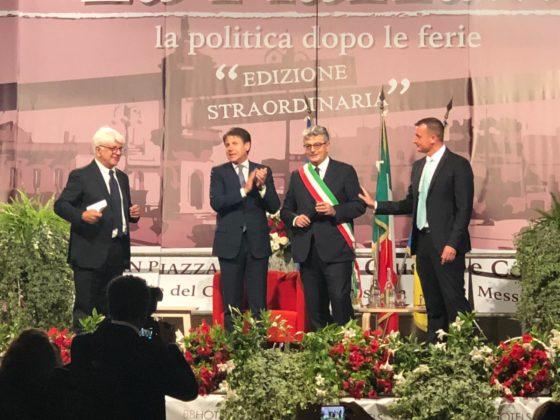 Angelo Perrino Rocco Casalino Luigi Caroli e Giuseppe Conte La Piazza