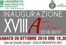 Inaugurazione Anno Accademico UniTre Ceglie Messapica