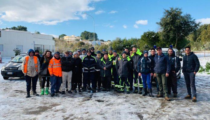 Emergenza neve Ceglie 2019