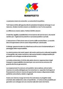 Manifesto rigenera def